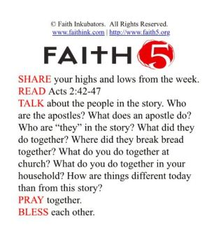FAITH5 for Gethsemane