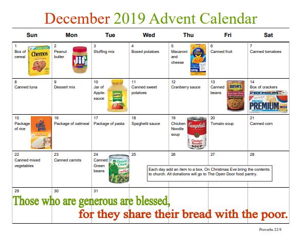 Photo of Advent Food Calendar